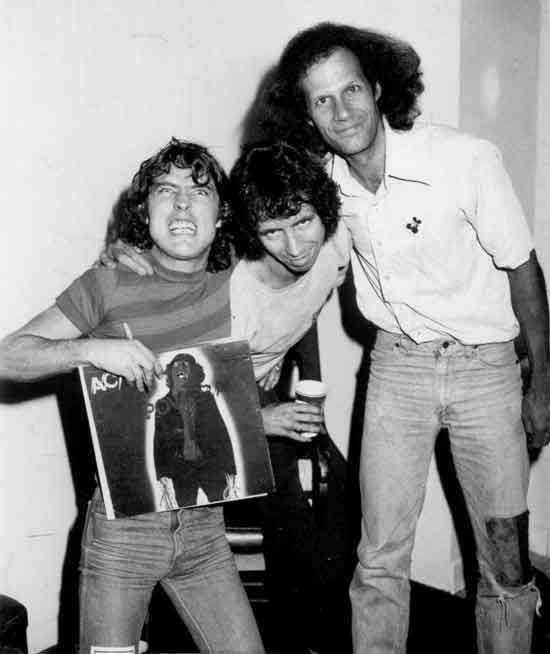 Gary Storm with Angus Young & Bon Scott of ACDC