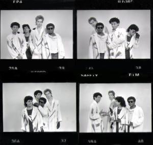 Patt Connolly, Robert Lowden, Gerry North Cannizzaro & Bill Simms - Parousia photo session 1988