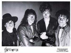 Marty Leggett with Parousia. Photo Session 1989