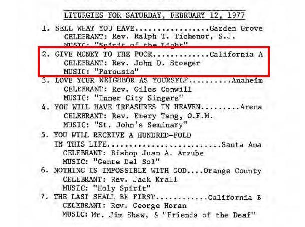 Liturgies Feb. 1977