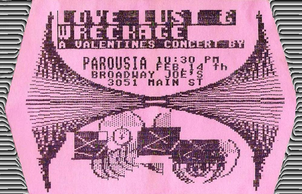 Love, Lust & Wreckage at Broadway Joe's - Invite