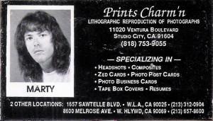 Marty at Day Job - Prints Charmin'