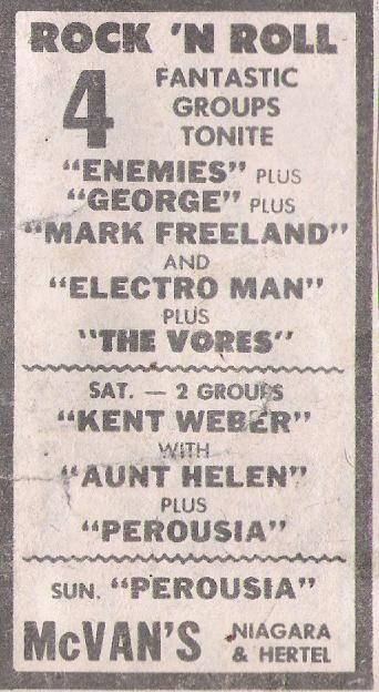 McVans Saturday & Sunday January 6th & &7 1979