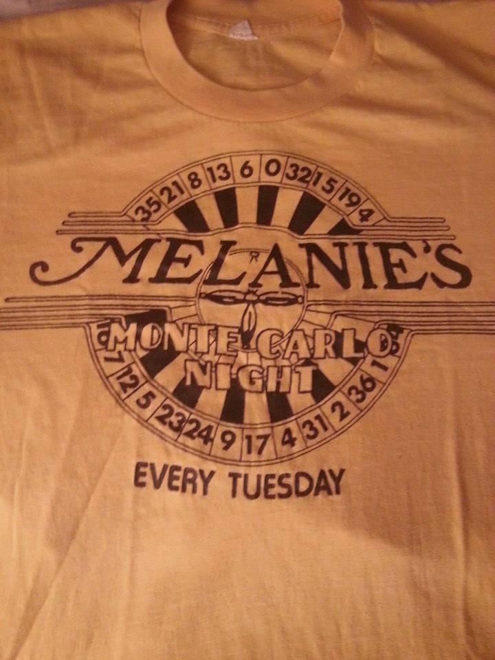 Melanie's Pub T-Shirt - Home of Monte Carlo Night and Parousia Parties