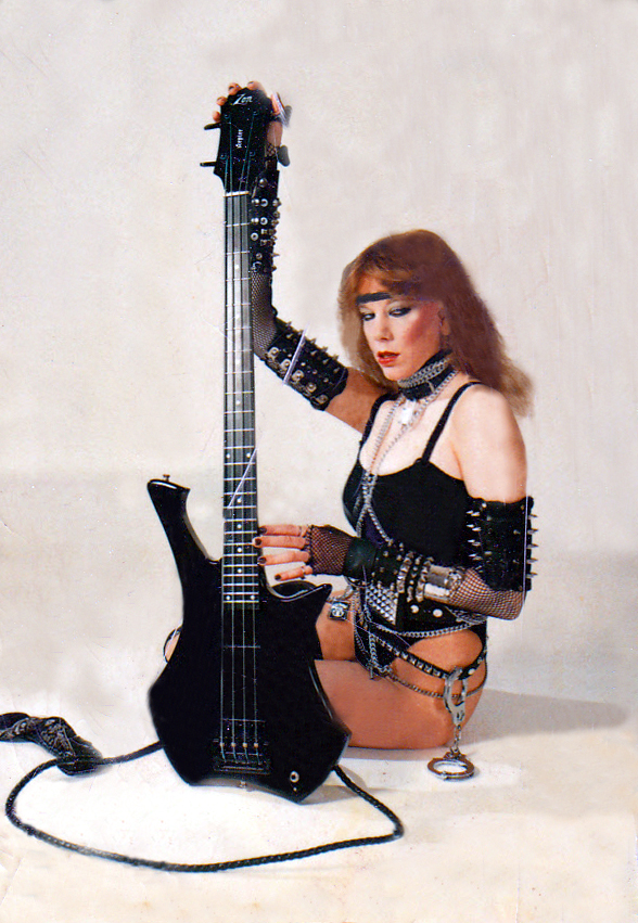 Ms. Heavy Metal (Nicole Ashley) and Zon Guitars (Bass, actually)