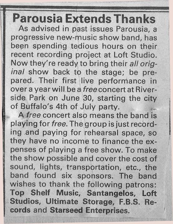 Riverside Park 1984 Promo NightLife Magazine