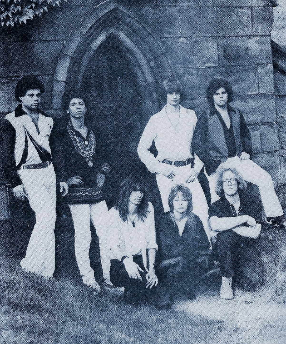 Parousia band photo - Forest Lawn Cemetary 1980
