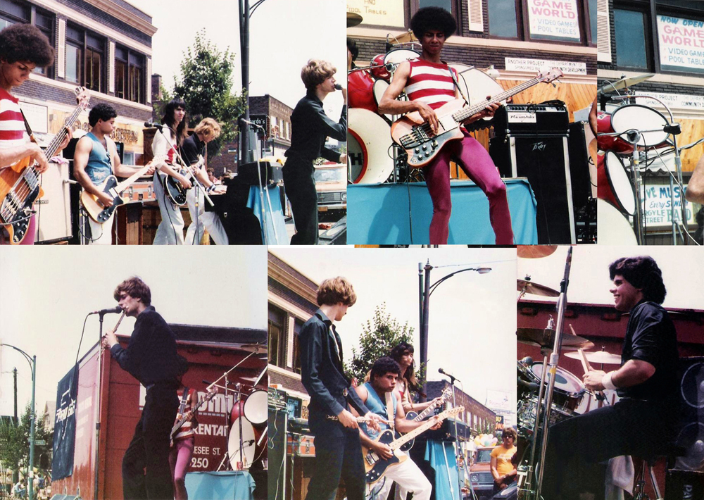 "Parousia outdoors at the ""Hertel Happening"", August 1981"