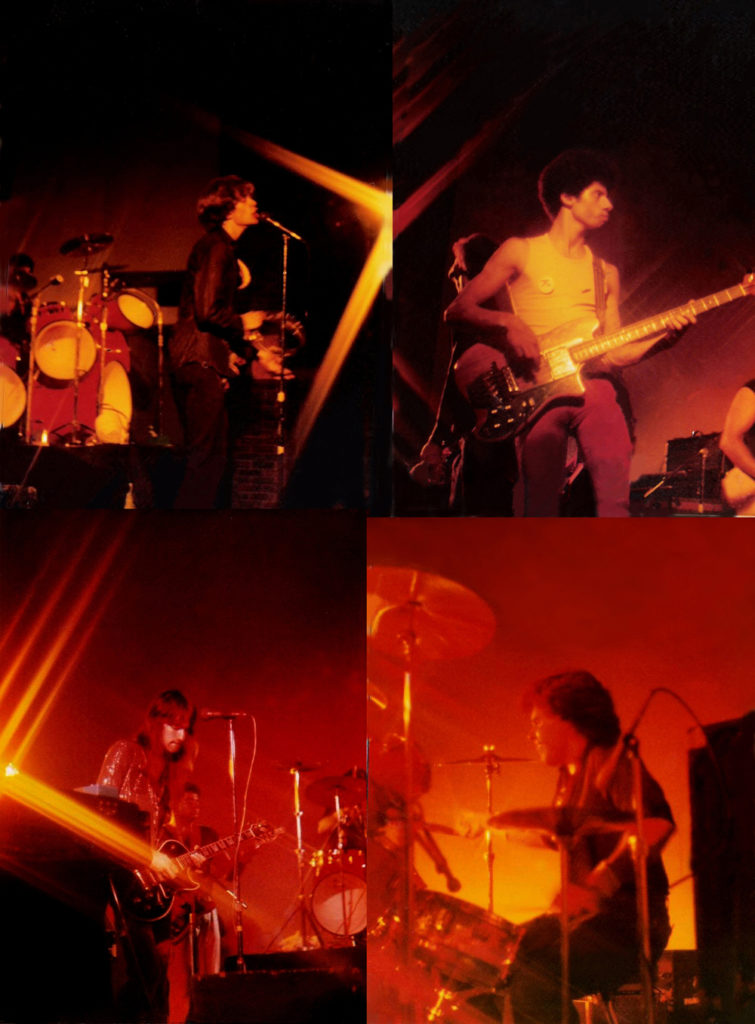 PAROUSIA on stage at Buff State Social Hall. September 1981