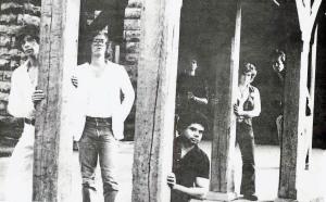 Patt Connolly, Eric Scheda, Garth Huels, Bob Lowden - Parousia photo session at the Elmwood Art Gallery - 1981