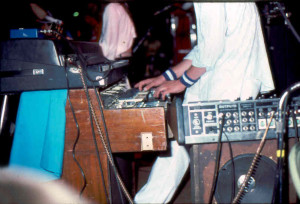 Old school - a Fender Rhodes atop a Hammond C3 or something?