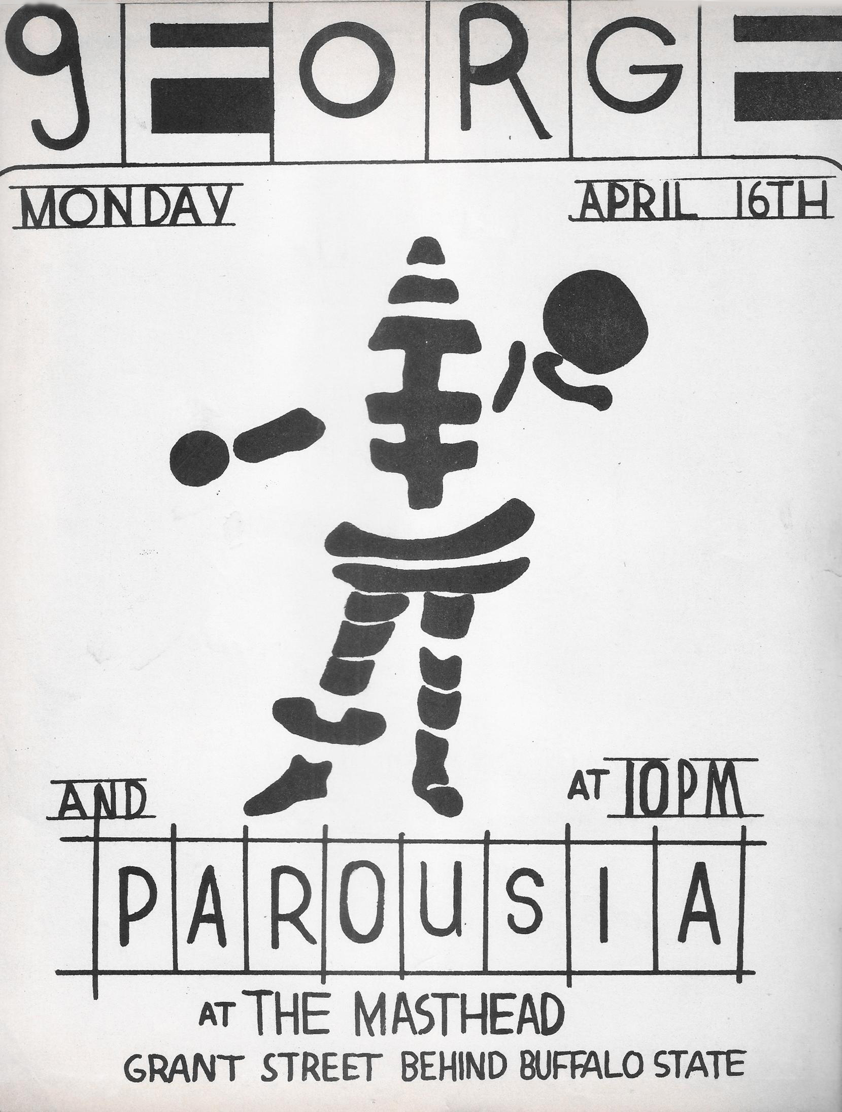 Parousia at the Masthead - April 16th, 1979