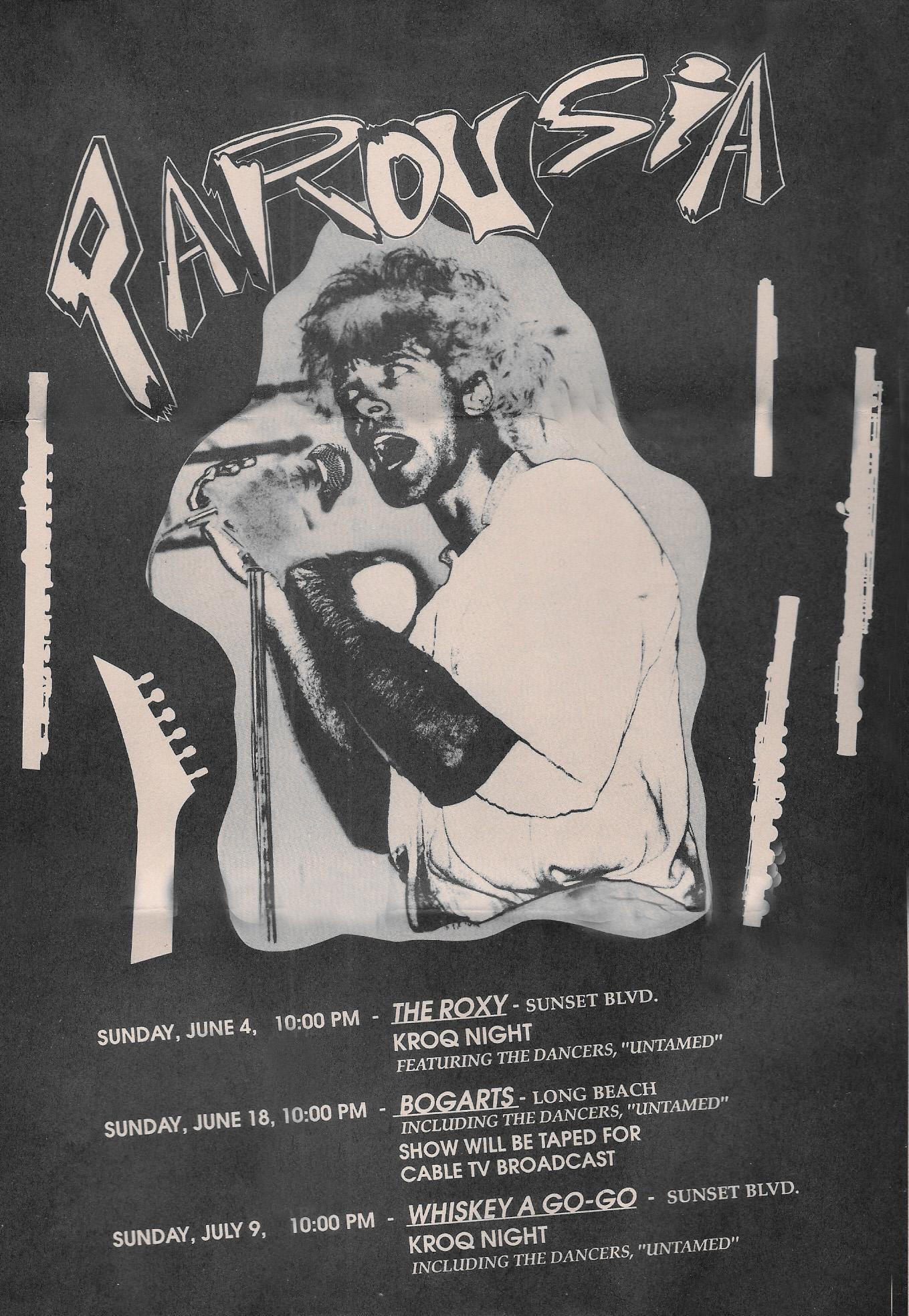Parousia at the Roxy June 4th, 1989