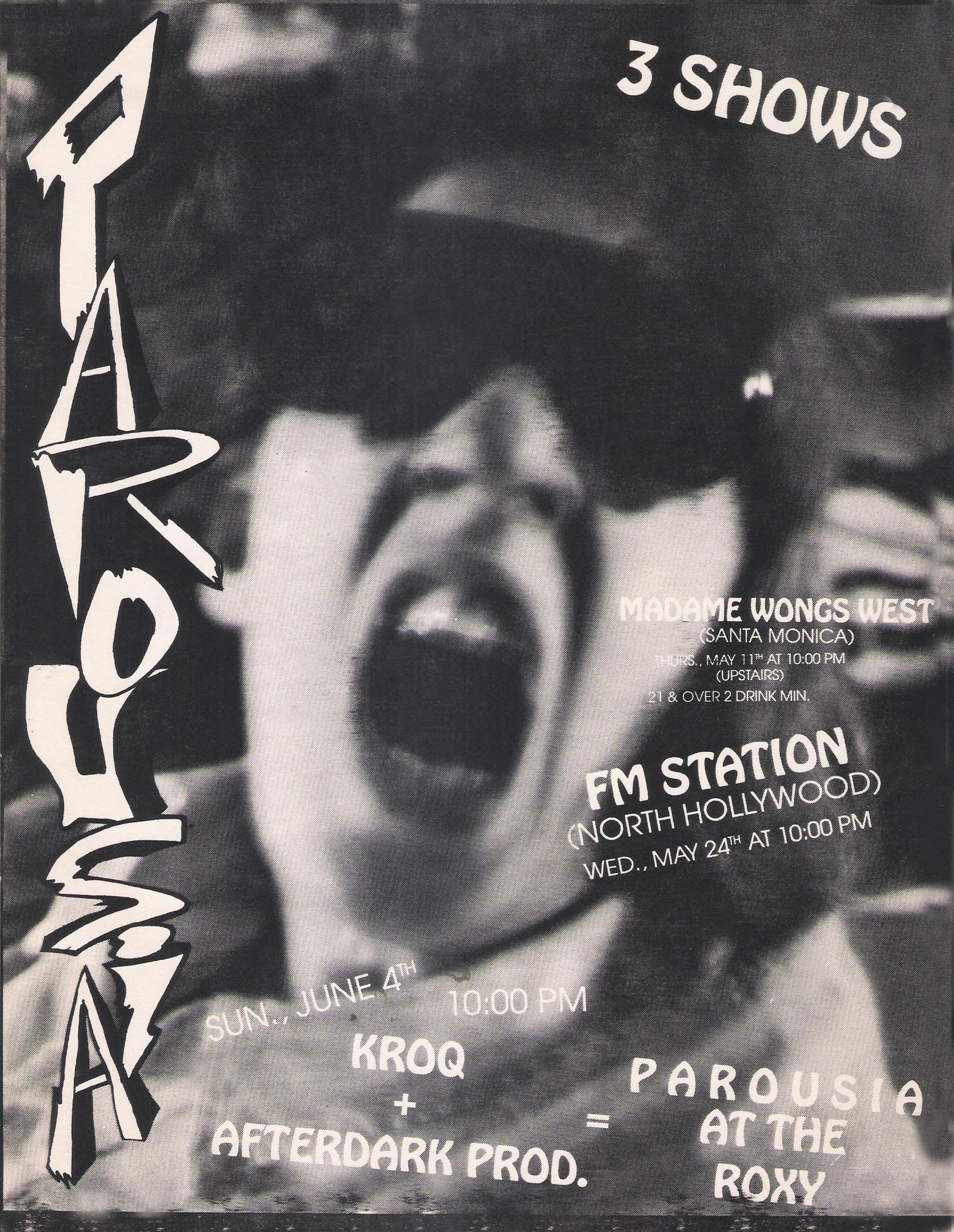 Parousia at the Roxy June 4th, 1989_v2