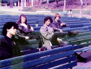 Patt Connolly, Robert Lowden, Marty Leggett, Gerry. N. Cannizzaro - Parousia photo session McArthur Park Jan. 1989