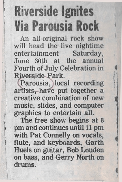 Riverside Park Promo 1984 Riverside Review