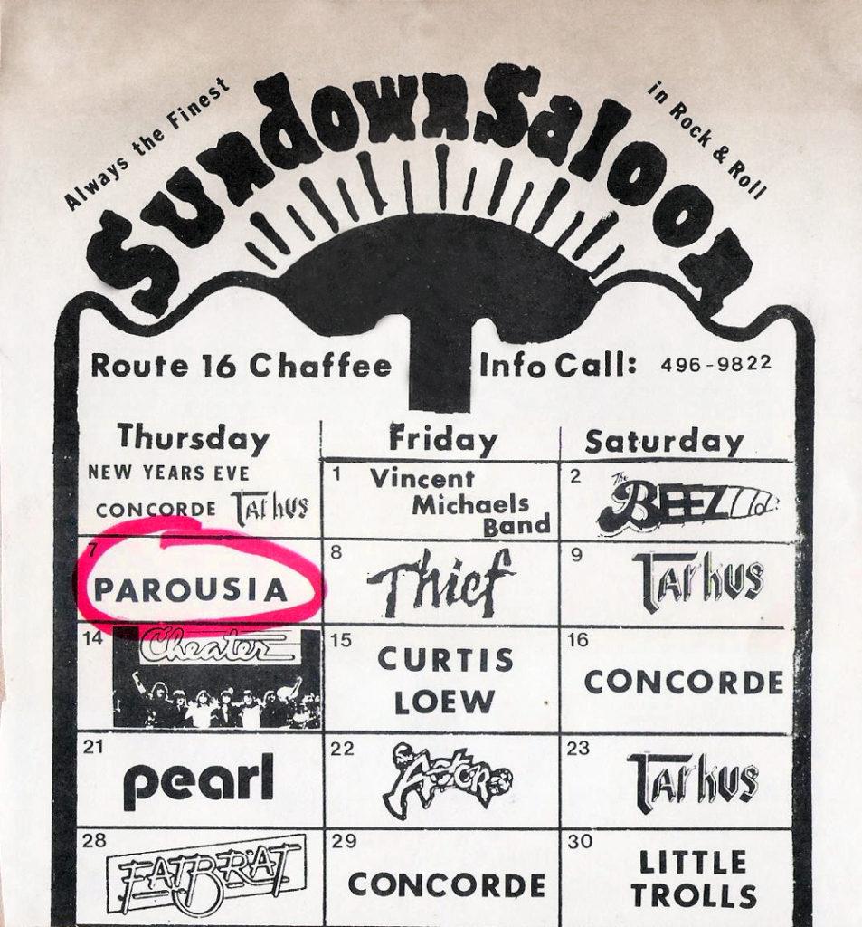Sundown Saloon advertisement in Buffalo Backstage Magazine, January 1982