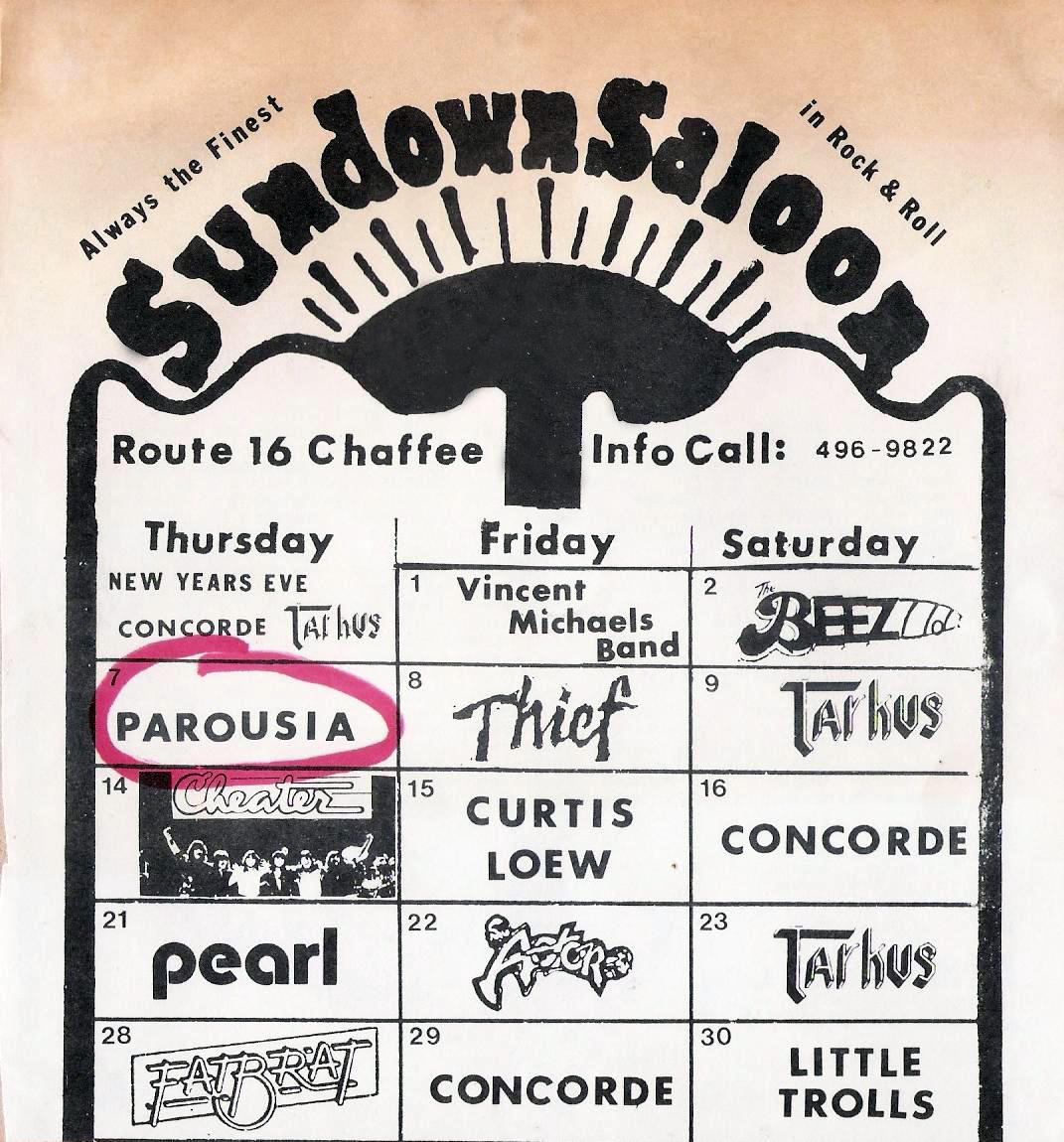 Sundown Saloon - 01.07.1982