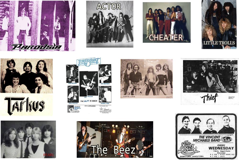 Parousia, Actor, Cheater, Little Trolls, Tarkus, Fat Brat, Curtis Loew, Thief, Pearl, The Beez, The Vincent Michaels Band.