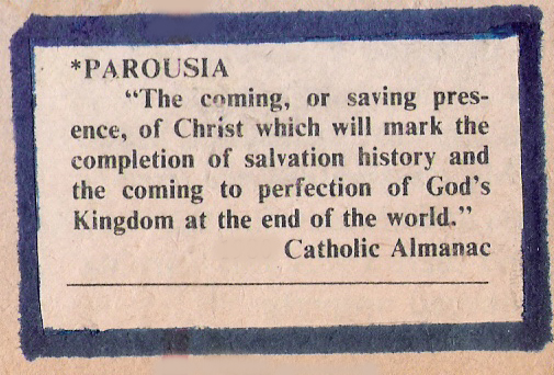 The meaning of Parousia