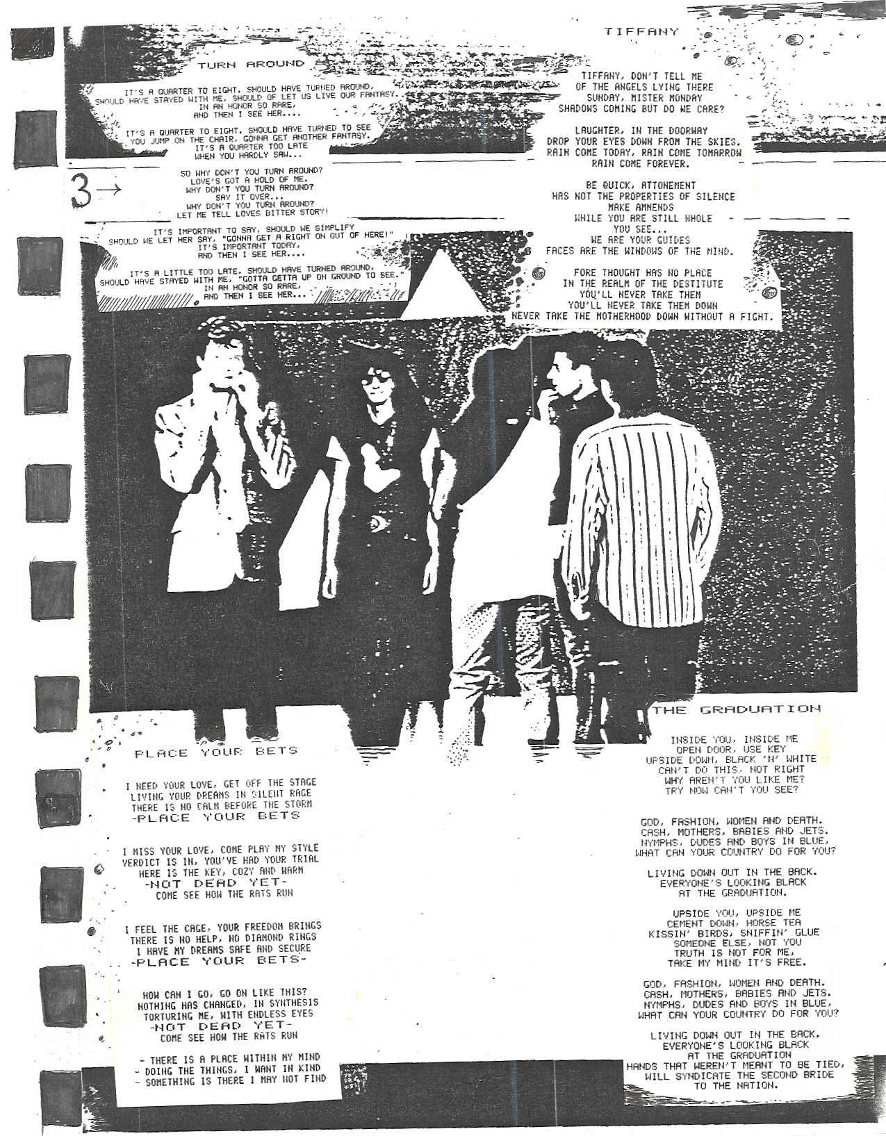 Turnaround Lyric Sheet