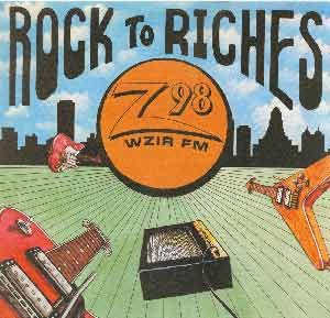 """Rock to Riches"" WZIR LP - Front"